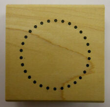 Small Dot Circle Frame Rubber Stamp by DeNami Design