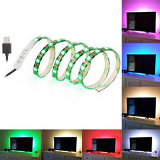 1M 60LED TV LED Strip Light USB SMD 5050 RGB PC TV Background Lighting Kit Decor