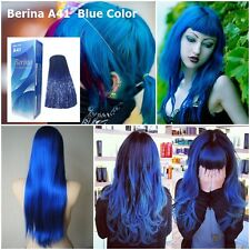 BERINA NO# A41 COLOR HAIR CREAM BLUE DYE SUPER COLOR PERMANENCE