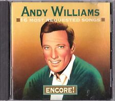 16 Most Requested Songs: Encore By Andy Williams Cd 1995 Columbia Legacy Canada