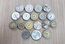 Lot of 18 Vintage Men's Wristwatch Movements for Parts and Repair ~ 11-I3899