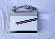 Jimmy Choo White 'Candy Mirror' Plexiglass Shoulder Bag Clutch $875.00