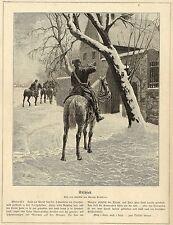 Georg Boddien ( Trompeter - Abschied ) Militärische Graphik von 1899