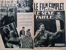 """LE FILM COMPLET 1934  N 1517 """" LE SEXE FAIBLE """" avec VICTOR BOUCHER"""