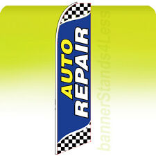 Feather Swooper Flutter Flag Banner Sign 11.5' - AUTO REPAIR Checkered bb