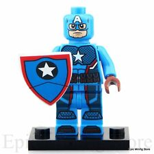 Custom Captain America SDCC Minifigure Marvel fits with Lego pg068 UK Seller