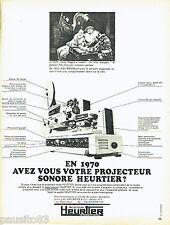 PUBLICITE ADVERTISING 086  1970  les Projecteurs Heurtier  André Hugon