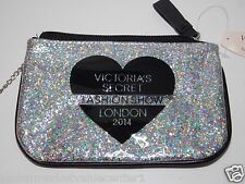 Victoria Secret FASHION SHOW BEAUTY RUSH shiny Cosmetic Makeup Bag COINT WALLET