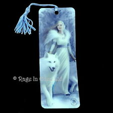 WINTER GUARDIANS Fantasy White Wolf Art 3D Bookmark By Anne Stokes (15.5x5.5cm)