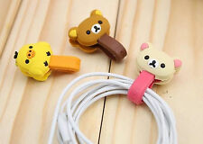 Wholesale 3pcs Earphone Cord Winder Wrap organizer Earbud Cable Ties Holder Cute