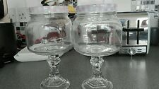 6 Glass sweet jars on stand vintage retro candy cart wedding  reduced to clear