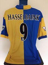 Leeds United HASSELBAINK 97/99 Away Football Shirt (L) Soccer Jersey