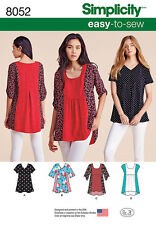 Simplicity 8052 aka S0651 Sewing Pattern EASY-To-Sew Misses Size 4 -26 Top