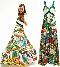 Desigual Nenat Maxi Robe Celebrity Long Dress - SMALL (S) UK 10 EU 36 (61V28R3)