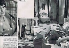 COUPURE DE PRESSE CLIPPING 1968 Annabel & Bernard Buffet   (2 pages)
