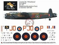 "Peddinghaus 1/72 Lancaster B I ""Whoa Bessie"" Markings No.463 RAAF Tirpitz 2513"
