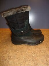 The North Face Shellista Pull On Black Leather Strap Snow Boots Women SZ#8