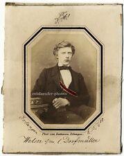 Salzpapier-Photographie, Portrait, Ludwig v. Welser von Gattineau, Erlangen 1860