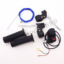 49cc Mini Pocket Bike Hand Grips Kill Stop Switch Throttle Cable Brake Levers