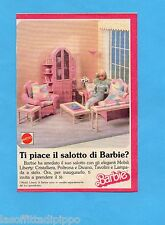 TOP989-PUBBLICITA'/ADVERTISING-1989- MATTEL- I MOBILI LIBERTY DI BARBIE