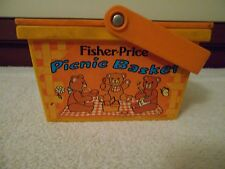 VINTAGE 1974 FISHER PRICE PICNIC BASKET