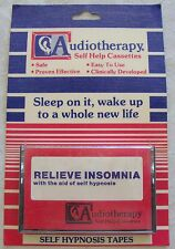 SELF HELP HYPNOSIS CASSETTE TAPE AUDIOTHERAPY RELIEVE INSOMNIA