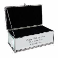 Personalised Mirrored Jewellery Box - Mum, Sister, Daughter, Birthday Gift