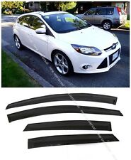 Window Visors Sun Rain Wind Guard for Ford Focus Sedan & Hatchback 4dr 2012-2016