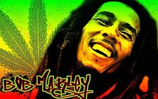 Vintage style Bob Marley weed STICKER. Reggae For your bong. 3.25x2 inch