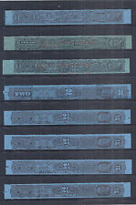 1926 US Tax Paid Revenue Tobacco Strips Collection Lot of 10 - Used*
