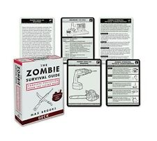 The Zombie Survival Guide Deck: Complete Protection by Max Brooks Cards FREE SHI