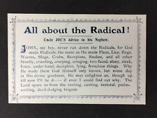 "Vintage Postcard #A76 - Unusual Religious Card ""All About The Radical"""