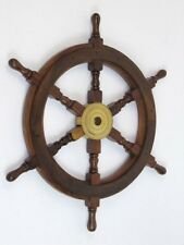 "SHIP WHEEL WOODEN 24""D"