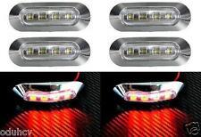 6x 4 LED Trasero ROJO Bisel Cromado Luz De Señalización para Camiones Autobuses