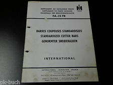 Teilekatalog Parts Catalog International Harvester genormter Schneidebalken