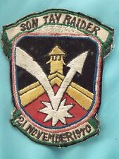 VIETNAM SON TAY RAIDERS PATCH CHEAP CHARLIES VIETNAM MADE PERIOD COPY