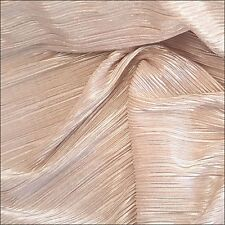 By The Half Metre Metallic Pleated Knit Fabric 145cm 100% Polyester