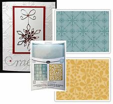 Sizzix embossing folders BRANCHES and SNOWFLAKES embossing folder set 657251