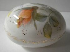 1984 Stouffer Studio Collectible Porcelain Egg With Flowers - Easter 1984