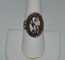 ANNA BEGAY NAVAJO CRAZY HORSE STONE RING SIZE 8