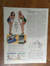 1951 Edgeworth  Pipe Tobacco Holiday Pipe Mixture Ad  Sexy Gals Ladies