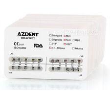 AZDENT 10 Packs Orthodontic Dental Mini Roth 022 3-4-5 Hooks Bracket Braces HOT