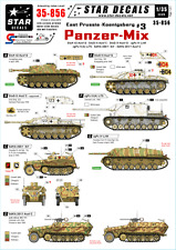 Star Decals 35-856, Decals for East Prussia and Koenigsberg # 3-Panzer Mix