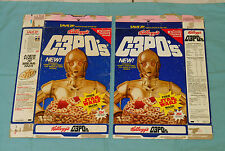 vintage Kellogg's C-3PO's CEREAL BOX LOT x2 Star Wars Stormtrooper