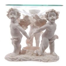 CHERUB ANGEL RING~TEALIGHT CANDLE OIL BURNER~MELT TART WARMER~BOXED~FREE PP UK