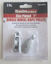 "HAUL MASTER SINGLE WHEEL ROPE PULLEY ZINC PLATED 1"" 92296"