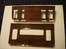 Mercedes w123  DASH HVAC + SWITCH WOOD COVER PLATES, FROM 300 D