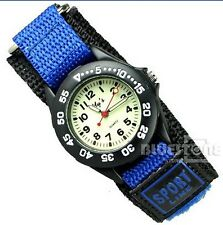 New Fancy Boy Girl Children Digital Sports Wristwatch Nylon Band Watch Blue