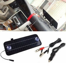 5W Solar Panel w/ Battery Clips for 12V Car Home Camping Boat Battery Charger US