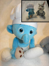 SMURF CHEF Jakks Pacific Cook  / Thumper from bambi beanie set of 2
